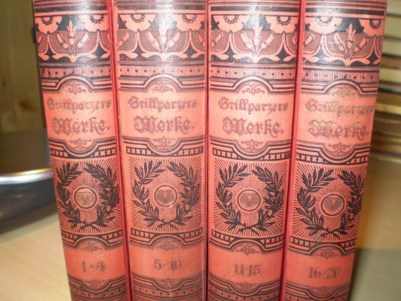 Grillparzer, Franz: Sämtliche Werke. Mit einer biographischen Einleitung von Wilhelm Waetzoldt. 20 Bände in 4.