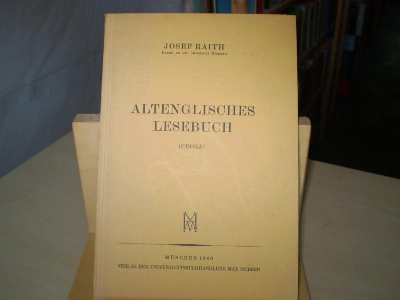 Altenglisches Lesebuch. Prosa.