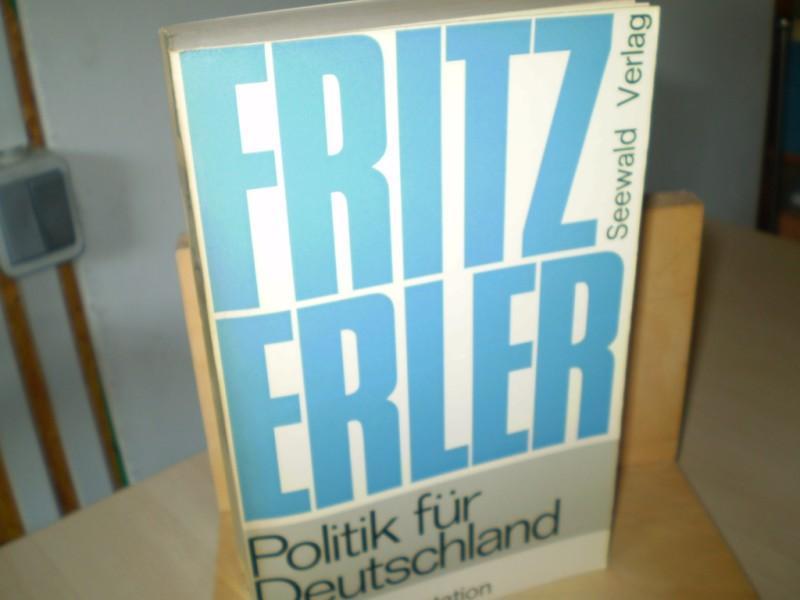 POLITIK FÜR DEUTSCHLAND. Eine Dokumentation.