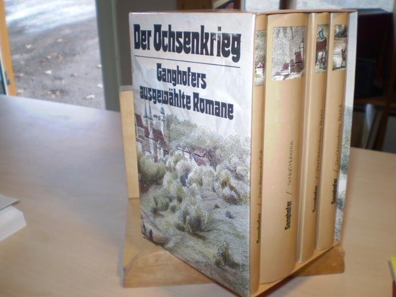 AUSGEWÄHLTE ROMANE. Der Ochsenkrieg. Der Jäger von Fall. Schloß Hubertus. 4 Bände.