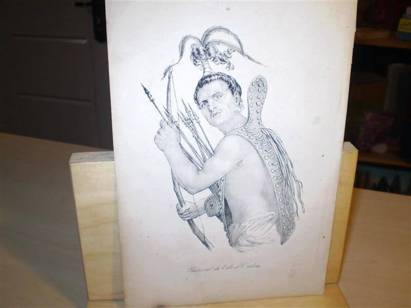 Naturel de l ile d Ombai. Original-Lithographie. Entnommen: Souvenirs d