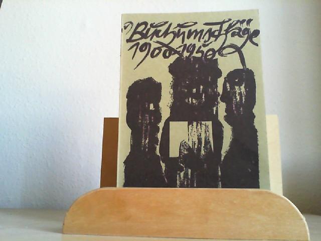 Buchumschläge 1900-1950. Aus der Sammlung Curt Tillmann. Katalog, 22.