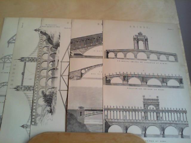 Grafik - BRIDGE. 5 Grafik-Holzschnitt, aus