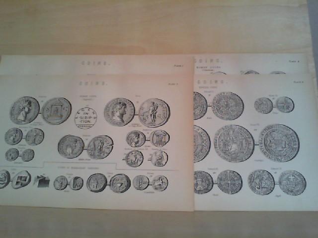 "Grafik - COINS. 4 Grafik-Holzschnitt, aus ""The National Encyclopaedia: A Dictionary of Universal. Knowledge"""