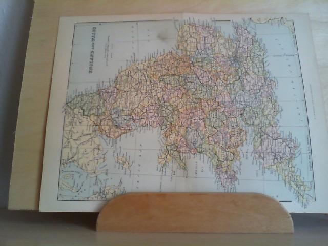 Grafik - Landkarte ENGLAND AND WALES, coloriert: 1 Grafik-Landkarte aus