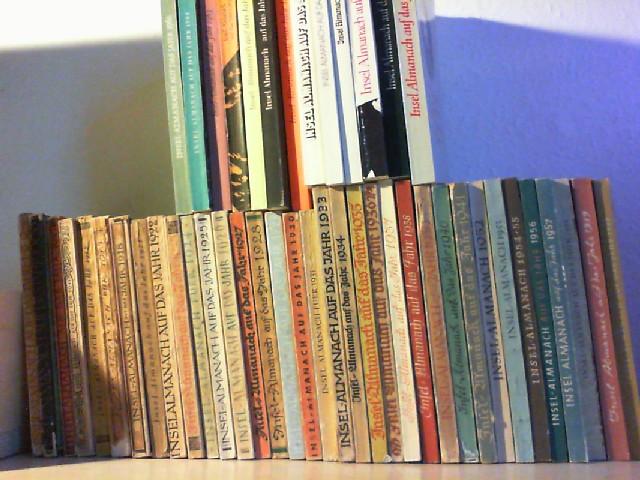 INSEL - ALMANACH AUF DAS JAHR 1908 - 1913, 1918, 1921 - 1931, 1933 - 1941, 1952 - 1964, 1967 - 1968, 1971, 1973 - 1971 - 1977, 1981.