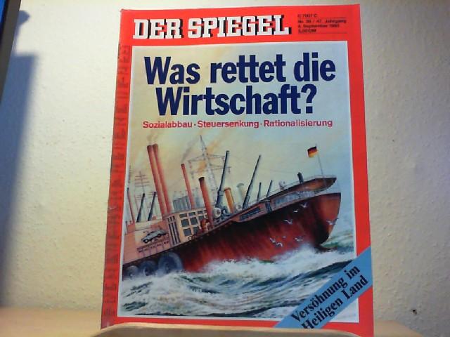 Der Spiegel. 6. September 1993, 47. Jahrgang. Nr. 36. Das deutsche Nachrichtenmagazin.