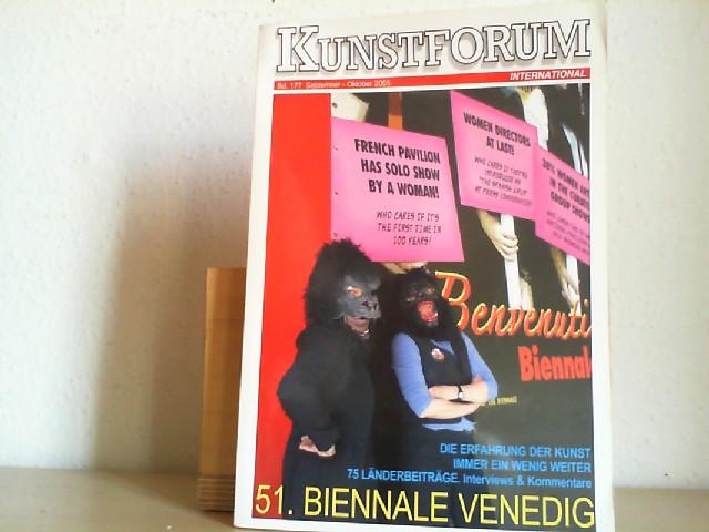Bechtloff, Dieter (Hrsg.): Kunstforum International.   Band 177, September - Oktober 2005. 51. Biennale Venedig
