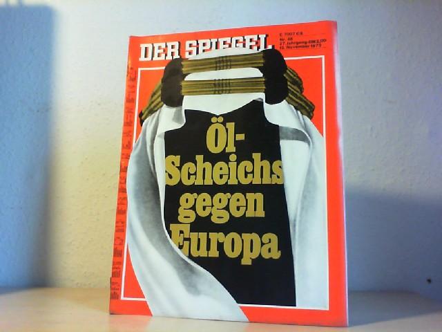 Der Spiegel. 12. November 1973, 27. Jahrgang. Nr. 46. Das deutsche Nachrichtenmagazin. 11. Stop für Deutschlands Autofahrer.