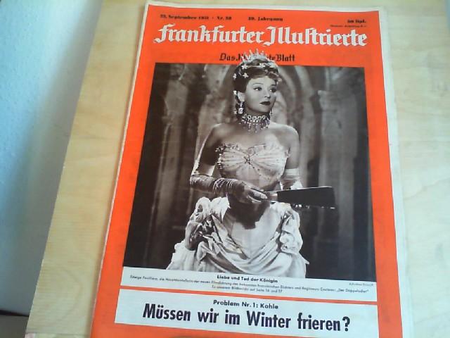 Frankfurter Illustrierte. 23. September 1951, Nr. 38, 39. Jahrgang. Das Illustrierte Blatt.