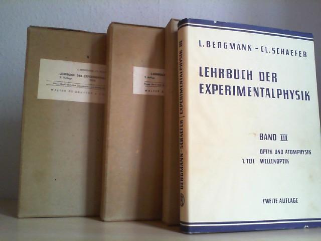 Lehrbuch der Experimentalphysik, zum gebrauch bei Akademischen Vorlesungen und zum Selbststudium. Band 1, 2, 3/1(1. Teil: Wellenoptik). 3 Bände. Mischaufl. 1958/59