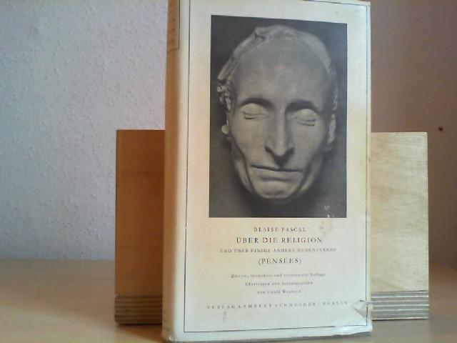 Über die Religion und über einige andere Gegenstände. Übertragen und herausgegeben von Ewald Wasmuth.