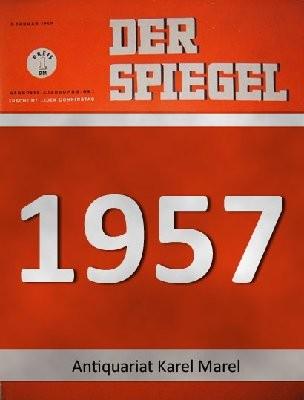 Der Spiegel. 28.08.1957. 11. Jahrgang. Nr. 35. Das deutsche Nachrichtenmagazin. Titelgeschichte : Das Minenspiel - Diamanten-Präsident Sir Ernest Oppenheimer.