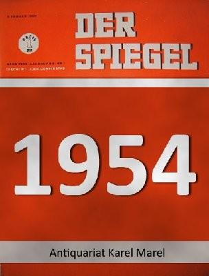 Der Spiegel. 12.05.1954. 8. Jahrgang. Nr. 20. Das deutsche Nachrichtenmagazin. Titelgeschichte : Die Nachtclub-Verschwörung - Protektions-Rekrut Schine und Freund Cohn.