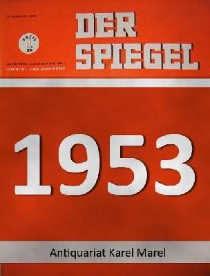 Der Spiegel. 03.06.1953. 7. Jahrgang. Nr. 23. Das deutsche Nachrichtenmagazin. Titelgeschichte: Pfauenschweif der Poesie - Worte um des Wohlklangs willen: Krönungsdichter Christopher Fry.