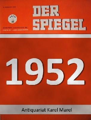 """Der Spiegel. 02.07.1952. 6. Jahrgang. Nr. 27. Das deutsche Nachrichtenmagazin. Titelgeschichte : Dampfwalze gegen Ike - """"Mr. Republican"""" Robert A. Taft."""