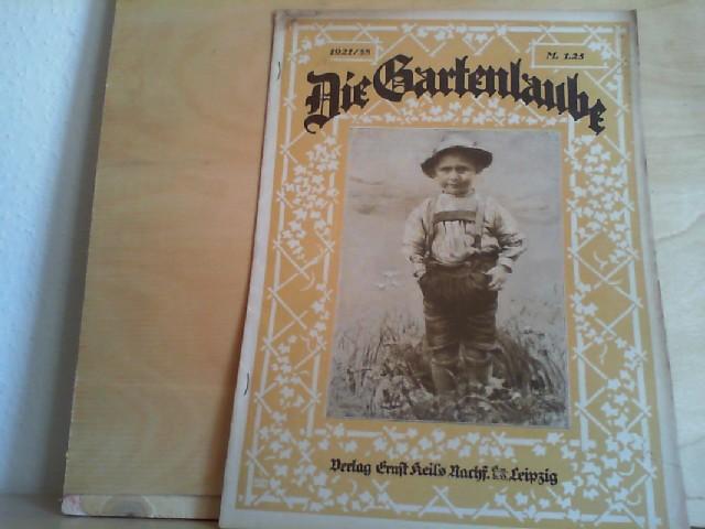 GARTENLAUBE, DIE; 22.09.1921, Nr. 38. Illustriertes Familienblatt.