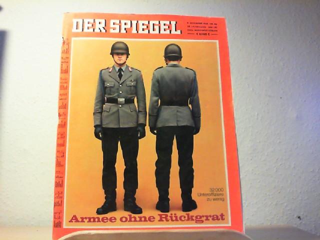 Der Spiegel. 09.12.1968, 22. Jahrgang. Nr. 50. Das deutsche Nachrichtenmagazin. Titelgeschichte: 32000 Unteroffiziere zu wenig - Armee ohne Rückgrat.