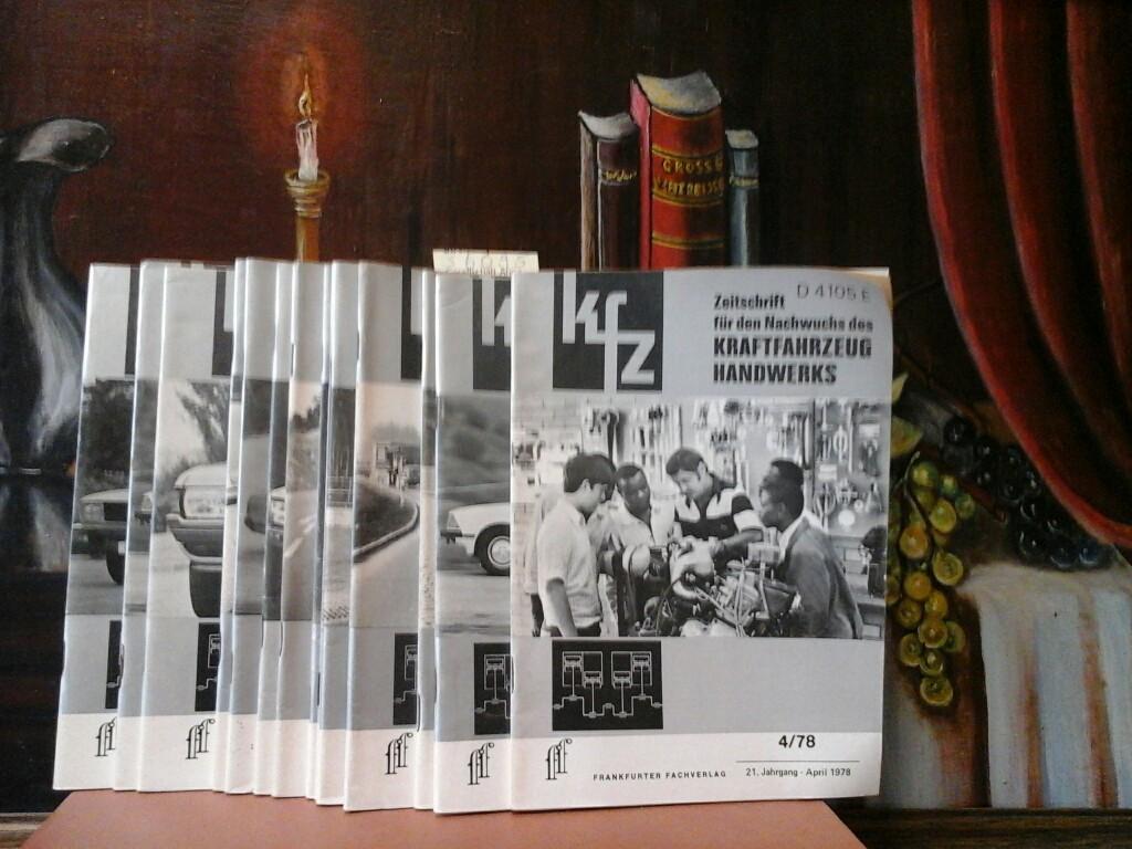 Zeitschrift für den Nachwuchs des Kraftfahrzeug Handwerks. 19. + 20. + 21.  Jahrgang. August 1976, 1977, 1978 (zus. € 80,-)