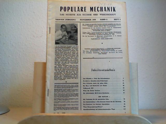 Populäre Mechanik. Das Neueste aus Technik und Wissenschaft. November 1959. 4. Jahrgang. Band 9,  Heft 5, Nr. 50. Herausgegeber der deutschen Ausgabe: Adrien Albarranc.