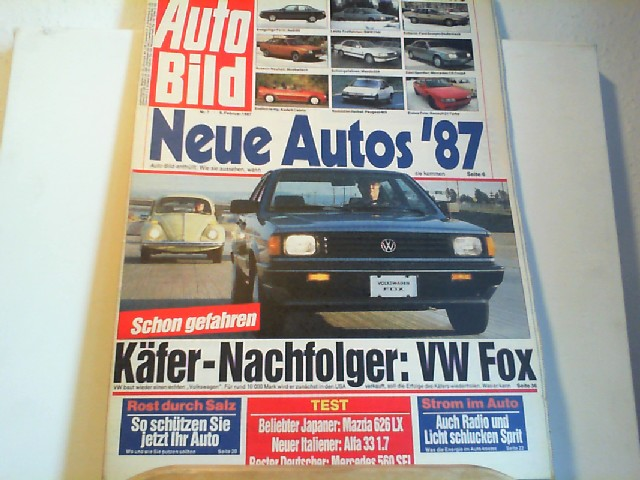 Auto Bild. 09.02.1987. Nr.7.