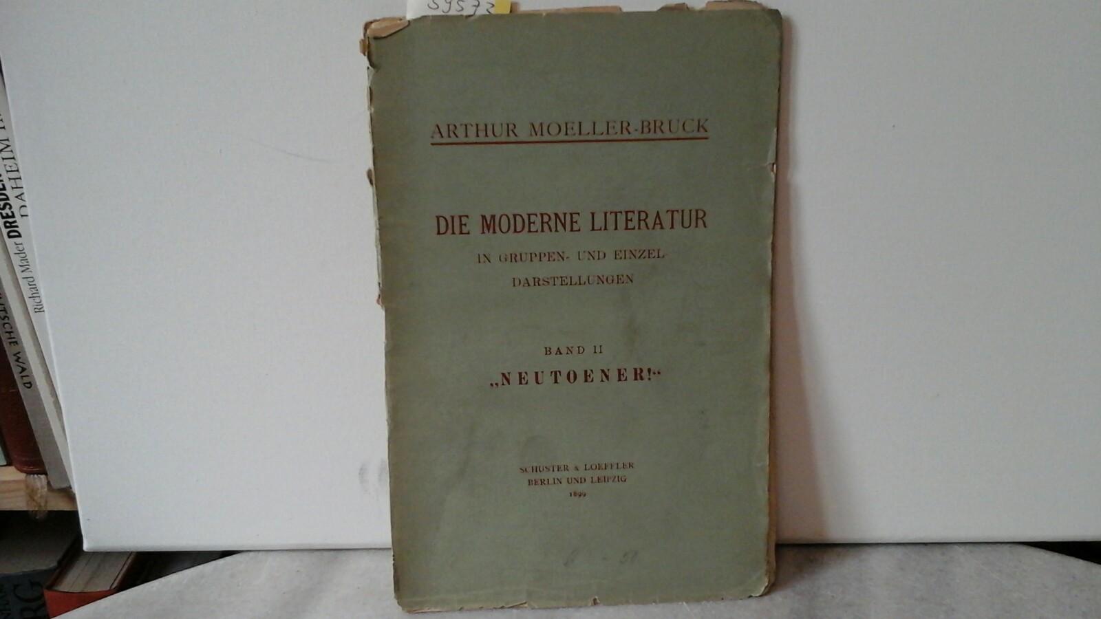 """""""Neutoener""""! Erste /1./ Auflage."""
