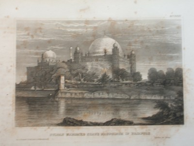 Sultan Mahomed Shah´s Mausoleum in Bejapore. Indien.