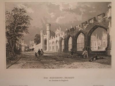 Der Bischofs-Palast zu Durham in England.