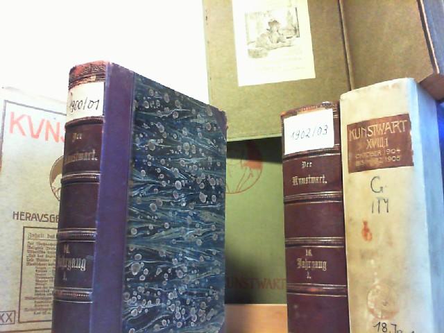 Der Kunstwart. Rundschau über Dichtung, Theater, Musik und bildende Künste. Herausgegeben von Ferdinand Avenarius. (in Heften: 11. Jg. 1898, Heft 1-18; 12.Jg 1899, H.1-24=cpl.; 20.Jg./1906-07, H.8 fehlt //..// gebundene Jahresbände: 12.Jg./1899, grüner Or.-Lwbd., 1. Hälfte; 13.Jg./1899/1900, 1.+2.Hälfte, grüne Olwbde.; 14.Jg./1900/1901, 1.+2.Hälfte, grüne OLwbde.; 14.Jg.1900/1901, 1.Hälfte, rotbrauner Halbledereinband; 15.Jg./1901/1902, 1.+2. Hälfte, grüne OLwbde. bwz. rotbraune Halblederbde.; 16.Jg./1902/1903, 1.+2.Hälfte, grüne OLwbde. + 1.Hälfte in rotbraunem Halbledereinband; 17.Jg./1903/1904, 1.+2.Hälfte, grüner OLwbde.; 18.Jg.1904/1905, 1.+2.Hälfte, zeitgen. Halbpergam. - Bände; 19.Jg.1905/1906, 1.+2.Hälfte, braune Halblederbände.