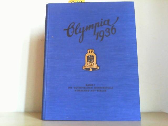 """Farbige Karte: Lageplan der olympischen Kampfstätten in Berlin bei der Olympia 1936. Sehr schöne farbige Karte. Ca. 30 x 80 cm. Aus dem Buch: """"Olympia 1936, Band 1""""."""