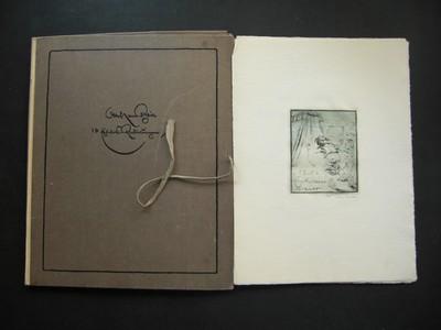 Zehn Exlibris-Radierungen mit einleitenden Worten von Hanns Heeren. Nummerierte Ausgabe in nur 100 Exemplaren,  (mit handschr. eingetragenen Nr. 44) vom Künstler signiert.