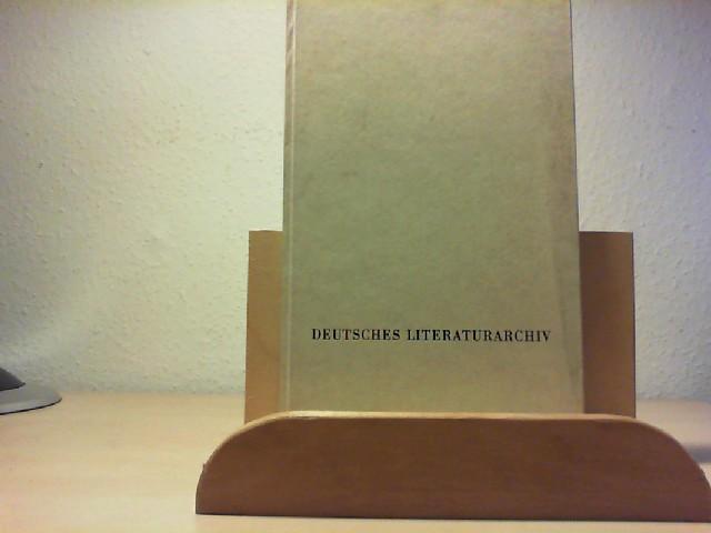 DAS DEUTSCHE LITERATURARCHIV IN MARBACH. Zur Eröffnung des Neubaus am 16. Mai 1973 von Bernhard Zeller. Erste /1./ Ausgabe.