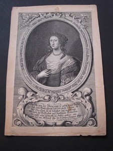 Anna Magaretha von der Burg, gebohrene Ulichin zu Leipzig. Kupferstich-Porträt von Johann Christoph Böcklin.
