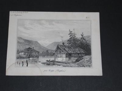 Près Voreppe (Dauphiné). Lithographie von Jules Monthelier und Tripenne. Aus Croquis Piitoresque.