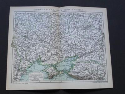 Südrussland, Krim und Taurin. Aus Brockhaus´Konversations-Lexikon. Vierzehnte/14./ Auflage.