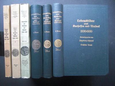 SCHNACK, INGEBORG: Lebensbilder aus Kurhessen und Waldeck 1830 - 1930. Band 1 bis 6. (=Alles!!) Erste /1./ Ausgabe.
