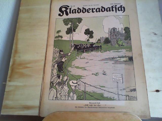 Kladderadatsch. 14.07.1912. 65. Jahrgang. Nr. 28. Humoristisch-satirisches Wochenblatt.