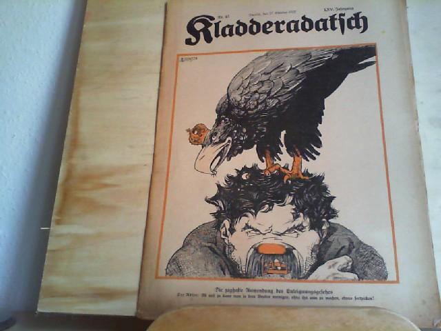Kladderadatsch. 27.10.1912. 65. Jahrgang. Nr. 43. Humoristisch-satirisches Wochenblatt.