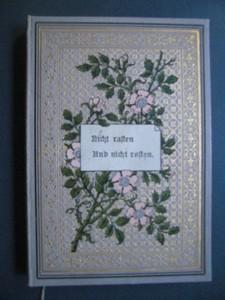 Nicht rasten und nicht rosten! Jahrbuch des Scheffelbundes für 1895. Geleitet von A.Kennel. Erste /1./ Ausgabe.