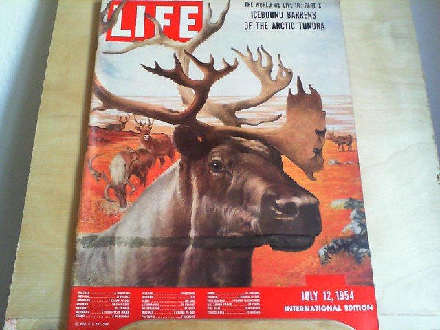 LIFE. International Edition. July 12, 1954. Titlestory: The world we live in: Part X; Icebound barrens of the Arctic Tundra.