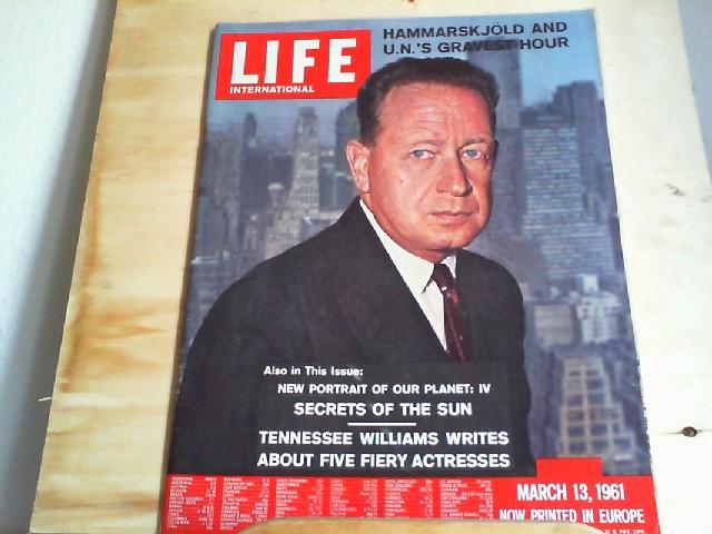 LIFE. International Edition. March 13, 1961, Vol.30 No.5. Hammarskjöld and U.N.