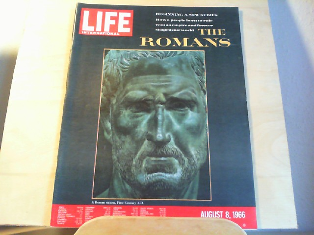 LIFE. International Edition. August 8, 1966, Vol.41, No.3. Beginning a new series: How a people born to rule won an empire and forever shaped our world: The Romans.