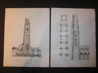 Die Kirche des heiligen Botolph zu Boston. Église de St. Botolph à Boston. St.Botolph
