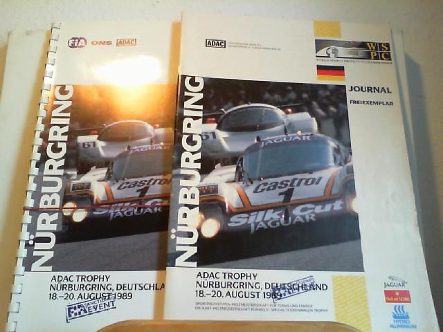 ADAC Trophy Nürburgring, Deutschland 18.-20. August 1989. Journal Freiexemplar UND: Media Kit. Sportprototypen-Weltmeisterschaft für Teams und Fahrer, Cit-Kart-Weltmeisterschaft Formel E, Spezial-Tourenwagen-Trophy. Erste Austragung. Erste /1./ Ausgabe.