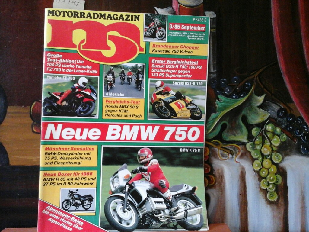 mo. Mofa, Motorrad, Test, Sport. Heft 9,  September 1985. Erste /1./ Ausgabe.
