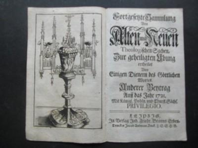 """Kirchenständer. Kupferstich aus """"Fortgesetzte Sammlung von Alten und Neuen Theologischen Sachen""""."""