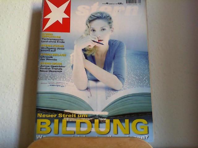 STERN. Das deutsche Magazin. 52. Jahrgang, Nr. 40. // 30. November 1999. Titelgeschichte: Neuer Streit um Bildung: Was muss ich alles wissen ?