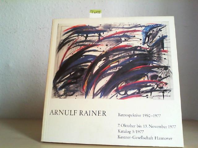 Retroperspektive 1950-1977. 7. Oktober bis 13. November 1977. Katalog 5/ 1977.