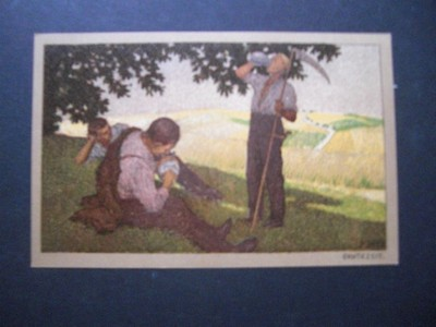 Postkarte / Ansichtskarte. Erntezeit (P. Hey). Farbillustr. Postkarte aus der Reihe