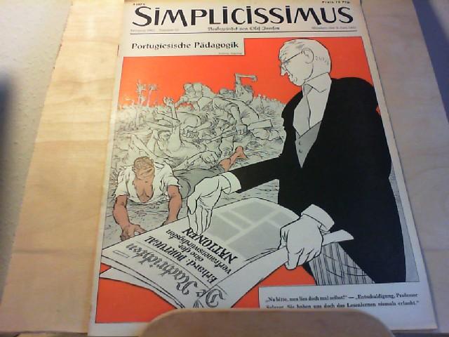 SIMPLICISSIMUS. 03. Juni 1961, Nr 23 / Jahrgang 1961. Neubegründet von Olaf Iversen. Satirisches